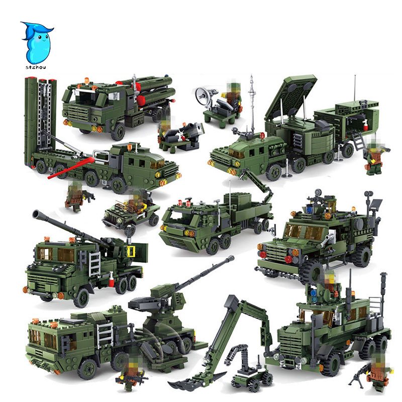StZhou Field Army forces series war figures chariot building blocks Compatible Legoe City Weapon bricks children toys <br>