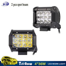 YB Yiba 2pcs 4 inch 36w spot beam offroad 4x4 ATV UTV auto waterproof led work lamp truck car led work light bar 12v 24v