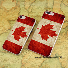 Health Canada flag design hard transparent clear Cover Case for Apple iPhone 7 6 6s Plus SE 4s 5s 5c