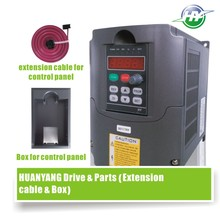 HUANYANG VFD Drive 0.75KW 380V spindle inverter frequency converter &Optional parts (extension cable + box) factory direct sales