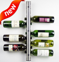 European Stainless Steel Wall-mounted Wine Rack  Fashion Bar Wall Tubular  Wine Holders