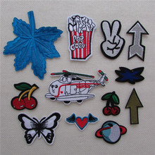 New Arrival fashion patches hot melt adhesive applique embroidery patches stripes DIY clothing accessory patch C5039-C5054(China)