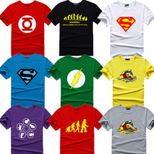 The big bang theory T-SHIRT bazinga 2015 print sheldon Lycra Cotton short-sleeve T shirts for men Cooper Geek Logo T shirt men