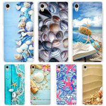 Blue Wood Seashells Sea Star Clear Case Cover for Sony Xperia z1 z2 z3 z4 z5 m4 Aqua m5 X XA XA1 XZ E4 E5 Compact C4 C5