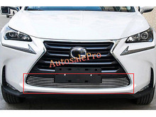 Stainless Front Bottom Grill Grid Grille Bumper Upper Trim Cover For LEXUS NX200T NX300H 2015 2016