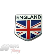 Rhino Tuning Union Jack Flag Rear Boot Trunk Car Auto Badge Sticker ENGLAND Car Side Wing Aluminum Sticker 302