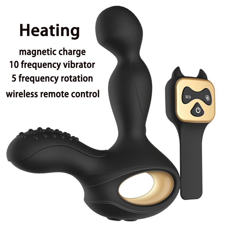 Wireless Remote Control Prostata Massage Vibrating Silicone Butt Plug Heating Anal Vibrator Sex Toys For Men Prostate Massager<br>