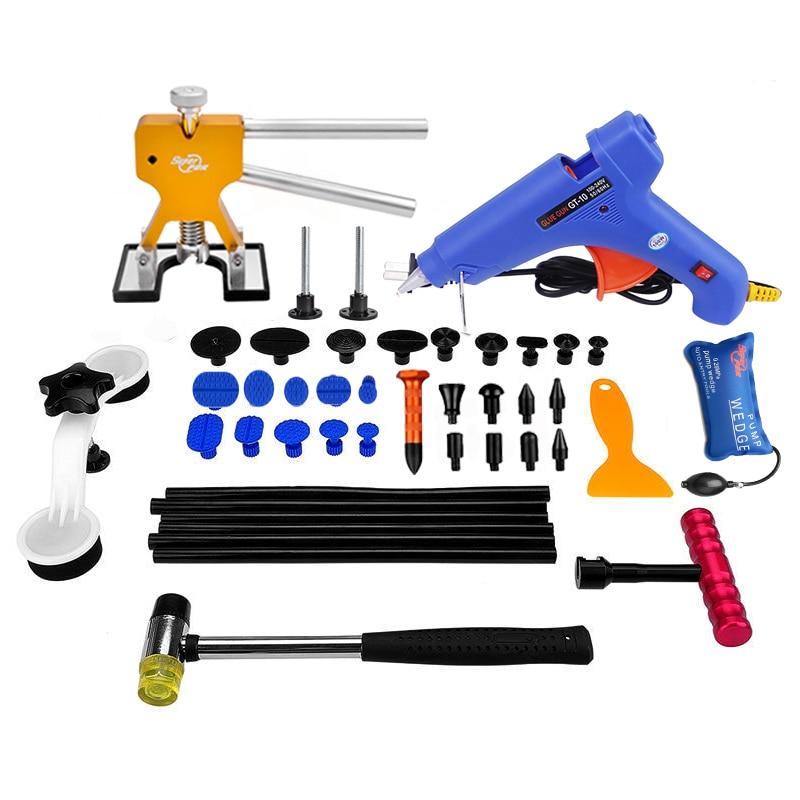 PDR Tools Paintless Dent Repair Tools Car Hail Damage Repair Tool Hot Melt Glue Sticks Glue Gun Puller Tabs Kit  Ferramentas <br><br>Aliexpress