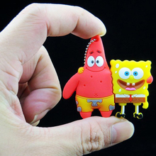 Real capacity PatrickStar pen drive 64GB  SpongeBob SquarePants USB Flash Drives 32G 16G 8G mini flash card /car/thumb/pendrives