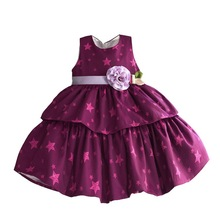 Baby Girls Flower Sun Dresses Kids Princess Clothes Children Evening Dress For Party And Wedding 6 colors 1-6T(China)