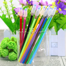 12 Pcs Creative Stationery Diamond Head Refill Color Gel Pen Refill 0.38mm Fresh Color 12 Colors  School Supplies