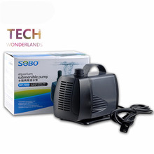 Aquarium super submersible pump fish tank water pump fish pond pool amphibious ultra silent pump SOBO WP-7000 5500L/H(China)