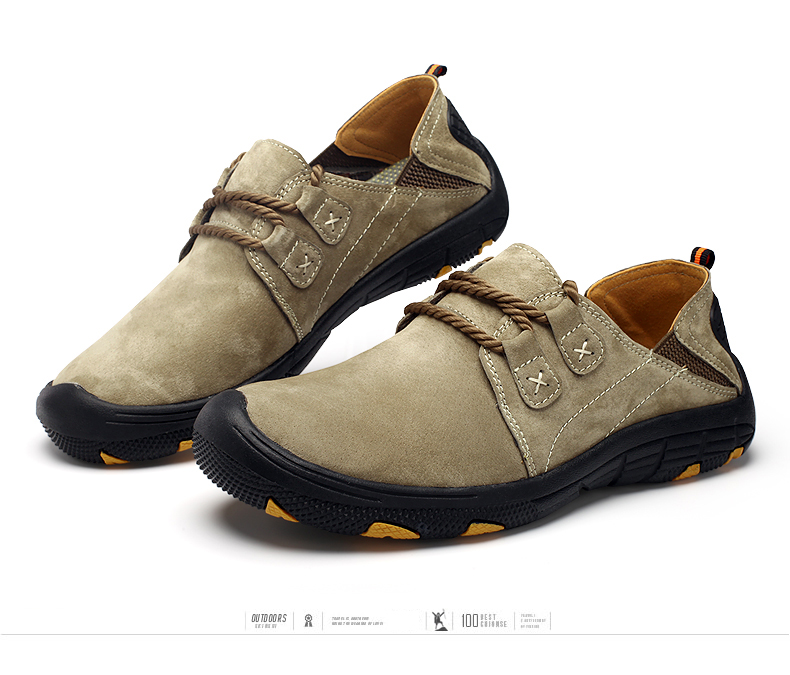 Comfort Breathable Genuine Suede Leather Shoes for Men