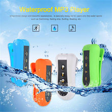 4GB waterproof Rechargeable Battery Mp3 music player w/ FM Radio Headphones Clip design for Swimming Running Diving Winter Sport(China)