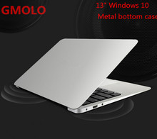 13.3inch windows 10 ultrabook laptop computer 2GB 64GB EMMC 1920*1080 HD screen aluminium back case notbook PC