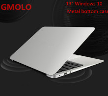 13.3inch windows 10 ultrabook laptop computer 2GB 64GB EMMC 1920*1080 HD screen aluminium back case notbook PC(China)