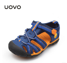 UOVO 2017 Summer Sandals For Boys sandals Soft Sole non-slip footwear Beach Shoes sandalia infantil kids sandals sneakers 30-36