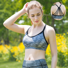 NEW women sports bras Multi-band beautiful back quick-drying underwear GYM lady running fitness exercise training dancing vest