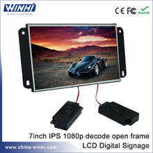 7 inch USB SD card  open frame  CE FCC RoHS LCD display digital signage player