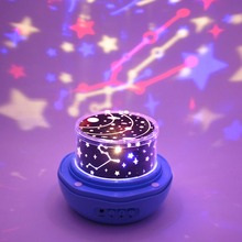 Romantic Rose Buds Shaped Rotating Night Light Projector Children Kids Baby Sleep Lighting Sky Star USB Lamp Led Projection