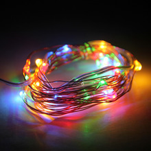 guirnalda luces 3M 10FT 30 LEDS 5V string Copper Wire LED light 4.5V Waterproof LED String Holiday Christmas Lights Halloween(China)
