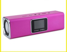 High Quality MUSIC ANGEL JH-MAUK5 High Quality Wireless  Portable Mini USB FM TF HI-FI Speaker with  LCD Screen