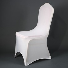 Awillhome 100 pcs good quality white Spandex Stretch Chair Covers for  event party DISCOUNT From June-July wedding chair cover