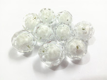 (Choose Size First ) 12mm/16mm/20mm White big faceted Beads In White Beads