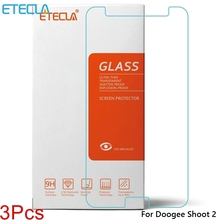 3Pcs Doogee Shoot 2 Glass Doogee Shoot 2 Tempered Glass Doogee Shoot2 Screen Protector Film Case 0.33mm 2.5D Transparent Glass