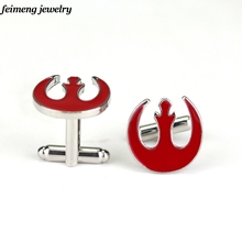 Movie Jewelry Star War Rebel Alliance Symbol Red Crest Cufflinks Fashion Jewelry For Men or Women High Quality Hot Sale Cufflink