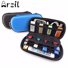 Portable Digital Products Storage Bag USB Cable Flash Drive Case Travel Sundries Organizer Waterproof Phone Headphone Pouch