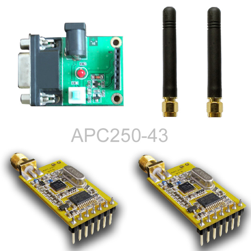 SI4432 wireless module APC250 / with a serial set board set<br>