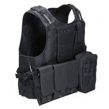 Hunting Army CS Paintball Go Vest Tactical Military Swat Field Battle Airsoft Molle Combat Assault Plate Carrier Vest(China)