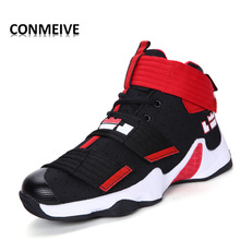 2017 Couple Basketball Shoes Outdoor Sports Men Shoes Jogging Jordan Male Adult Sport Shoes Breather Lace -up Tenis Masculino(China)