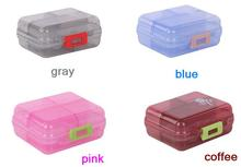 freeshipping 2pcs/lot 7slots sealed Portable pill case / medicine box, for drugs and other personal care product ( MCPP resin )