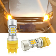 2pcs 3156 T25 LED 21-SMD 3535SMD Car Tail Bulb Brake Lights auto For Turn Signal Daytime Running Light Amber Yellow