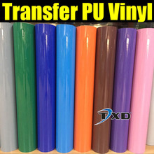 Free shipping DISCOUNT Whole roll heat transfer PU vinyl 0.5X25M/Roll with good quality 33 COLORS FOR CHOICE