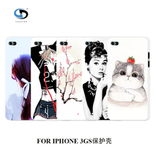 2016 Phone Case Fashion Girl Designs White Hard Plastic Back Covers for IPHONE 3 3GS