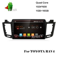 4 Cores Quad Core Android 4.4 Car DVD Player For Toyota RAV4 2013 With 16G Internet Memory GPS Navigation(China)