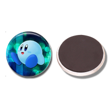 1p Kirby Super Smash Bros 30 MM Fridge Magnet Anime Geekery Glass Cabochon Note Holder Magnetic Refrigerator Stickers Home Decor