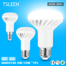 TSLEEN Low Heat Lamps For Home E27 E14 110v 220v LED Bulbs Tubes 3W-12W Umbrella Light Warm SMD 5730 R50 R63 R80