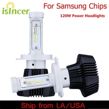 iSincer 12V 24V Car Headlights With Samsung Chip LED H4 Car Head Lamp H7 Lights 120W 12000LM Head Bulbs H1 H13 LED Car Styling