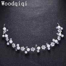 Woodqiqi Shinning Baroque Luxury Rhinestone Bridal Crown Clear Crystal Diadem for Bride Headbands Wedding Hair Accessories(China)
