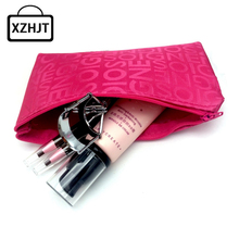 Women Portable Cosmetic Bag Fashion Beauty Zipper Travel Make Up Bag Letter Makeup Case Pouch Toiletry Organizer Holder(China)