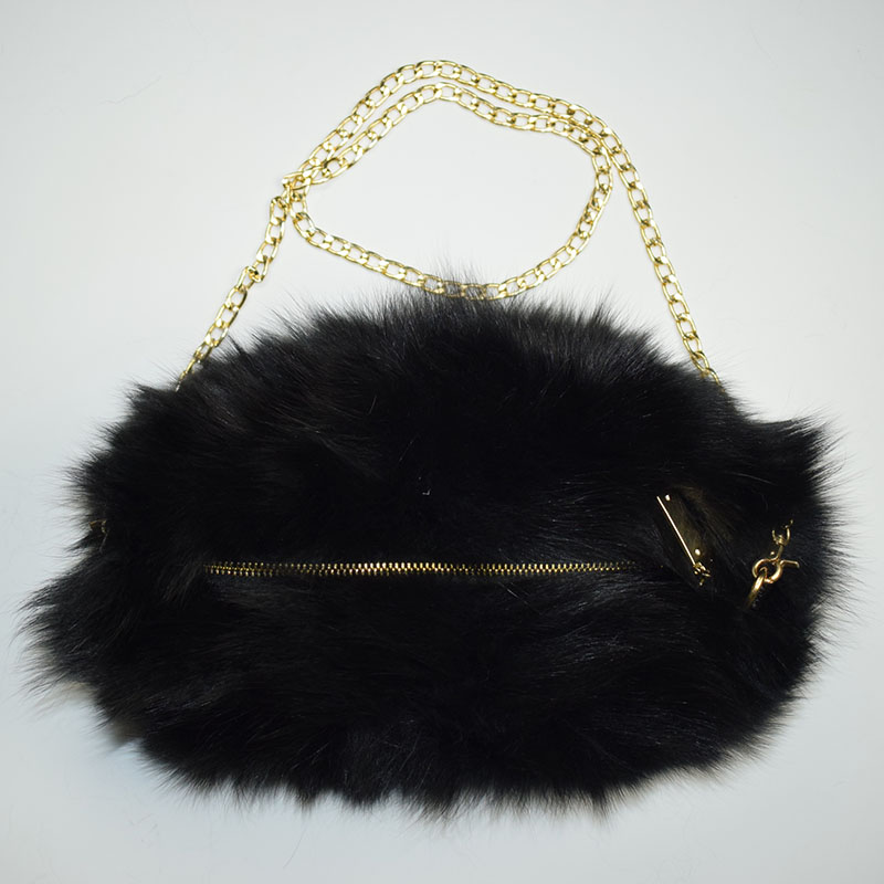 fox fur handmuff black 1