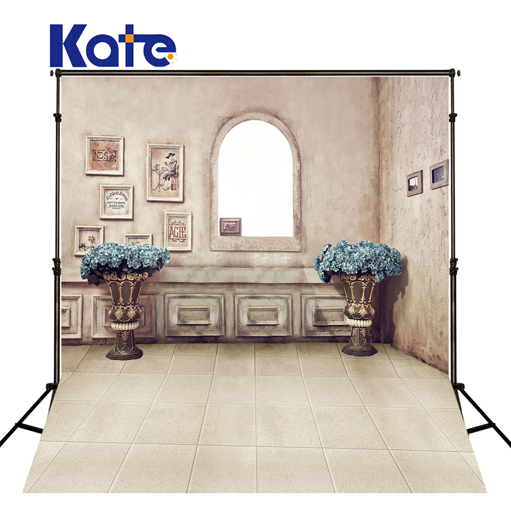 KATE Photography Backdrop 5X7FT Window Background Vintage Indoor Wedding Backdrops Brick Floor Backdrop for Photocall Wedding<br>