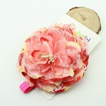 """13CM"" Large peony Flower Headbands Jumbo Baby Toddler Child Girls Headband hair bows(China)"