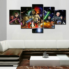 Home Decor Printed Star Wars Movie Poster Group Painting 5PCS Home Room Decor Print Poster Picture Canvas Painting on the wall