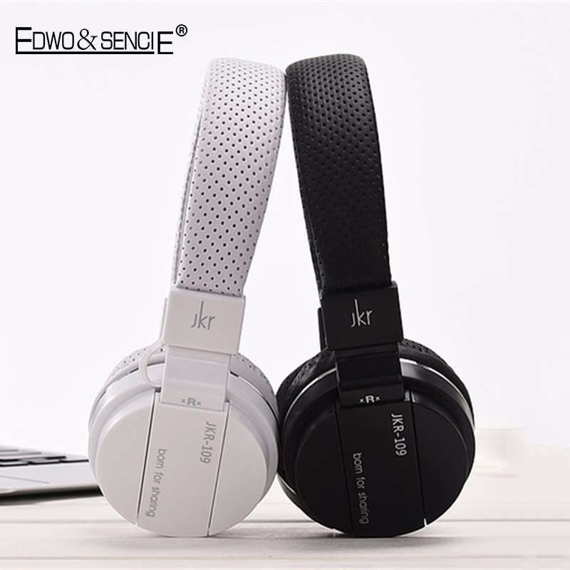 EDWO 109 Portable Wired font b Headphone b font Headset With Microphone Noise Cancelling Stereo Bass