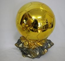 1:1 Real Life size 35cm Ballon D'OR Trophy for Sale Resin Best Player Awards Golden Ball Soccer Trophy Mr Football trophy